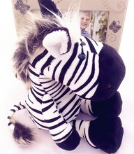 35cm Germany NICI jungle brother zebra Cute plush toy doll for birthday gift 1pcs(China)