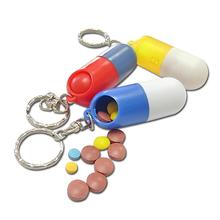 1pc Portable Pill Box Medicine Case Drug Pill Box Cute Capsule Shaped Pill Splitters Cases Y1-5