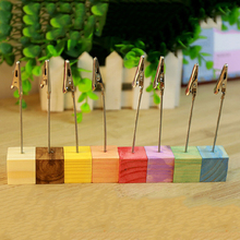 Wire Memo Paper Note Recipe Photo Wedding Table Card Number Clip Holder AU 1PCS 8 Colors