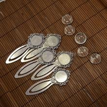 20mm Clear Domed Glass Cabochon Cover Setting Antique Silver for DIY Alloy Portrait Bookmark Making Cadmium/Nickel/Lead Free
