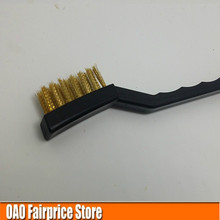 Copper brush,Brass wire brush,Industrial toothbrush, car cleaning, descaling brush, Clear rust,cleaning the gap,Cleaning rust
