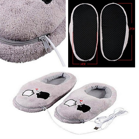 2019NEW Pig Plush USB Foot Warmer Slipper Practical Safe And Reliable Soft Electric Heating Shoes Cute Christmas Gift For Girls