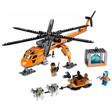 Bela 10439 City Series Arctic Helicrane Model building kits compatible with lego city 3D blocks Educational toys hobbies(China)