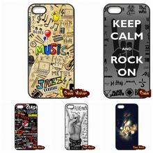 Nice Musical Notes Musical Cases Covers For iPhone 4 4S 5 5C SE 6 6S 7 Plus Galaxy J5 A5 A3 S5 S7 S6 Edge