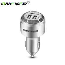 Onever FM Transmitter Bluetooth Hands Free Car Kit Car MP3 Player Radio Modulator Dual USB Car Charger Support TF USB Drive(China)