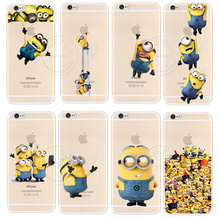 New Arrival Minions Case Cover For Apple iPhone 6 6S Super Cute Design Cases For iPhone6 iPone 6 6S 4.7 inch Cover