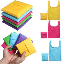 Portable folding shopping bag Large nylon bags Thick bag Foldable Waterproof ripstop Free shipping