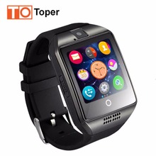 Toper Newest Bluetooth Smart Watch Q18 Smartwatch for Android IOS Phone Support SIM TF Card SMS Camera MP3 Music Russia T30