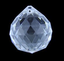 Hot !! 20mm 100pcs/lot  Transparent Faceted Ball Chandelier Crystals For Lighting Prism Pendant Glass Hanging Drops