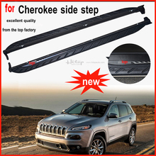 running board side step foot bar Pedals for Jeep Cherokee,reasonable price,hot sale in China, free shipping to Asia.(China)