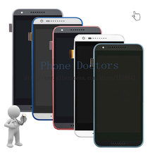 5.0'' Full LCD Display + Touch Screen Digitizer Glass + Frame Cover Assembly For HTC Desire 620 D620 D620G ; New ; 100% Tested