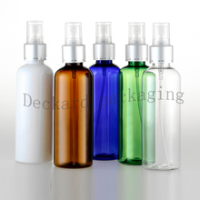 40PCS/LOT 100ml Essentials Perfume Cosmetic Sample Containers Bottles Refillable Empty Cosmetic Mist Spray Cap Sample Bottles