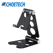 CHOETECH Aluminium Phone Holder Universal Dual Foldable Anti-slip Desk Holder Phone Stand Mount For iPhone for Sumsung Tablets(China)