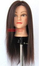 Free shipping salon mannequin training head with human hair for hairdressers mannequin model head with wigs stand periwig holder
