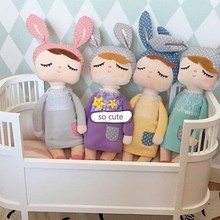 Lovely Rabbit Doll Plush Toys For Baby Bedding Set 35 CM Cute Toys For Baby Girl Boy Birthday Gift Baby Doll brinquedo menina(China)