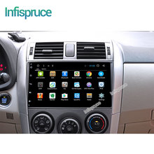 2G android 6.0 car dvd gps radio video audio player gps navigation toyota corolla 2008 2009 2010 2011 2012(China)