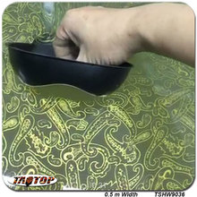 TSHW9036 0.5m *2M Popular transparent gold flower hydro dipping pva film hydrographic film  water transfer printing film