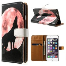New For iPhone 6 6s Case Wolf KeyBoard Skull Horizontal Wallet Stand Leather Protective Cover for iPhone 7 7Plus 6s Plus Shell