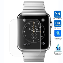 Ultra Thin Tempered Glass Film for Apple Watch iWatch 38 42 mm Transparent Screen Protector Protective Film with Clean Tools