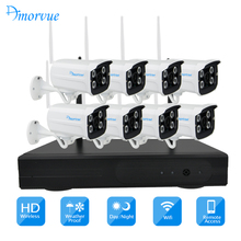 Amorvue 720P/1080P Wifi CCTV System IP Camera Bullet Waterproof P2P WITH 4CH/8ch NVR kit System Surveillance CCTV System(China)