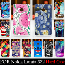 For Microsoft Nokia Lumia 532 Hard Plastic Case Mobile Phone Cover Bag Cellphone Housing Shell Skin Mask DIY Custom Supported