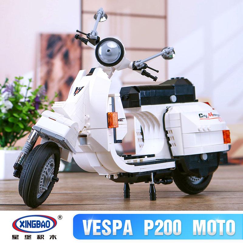 XingBao 03002 Block 732Pcs Genuine Creative Technic Classic Series The Vespa P200 Moto Building Blocks Bricks Toys Model Gift<br>