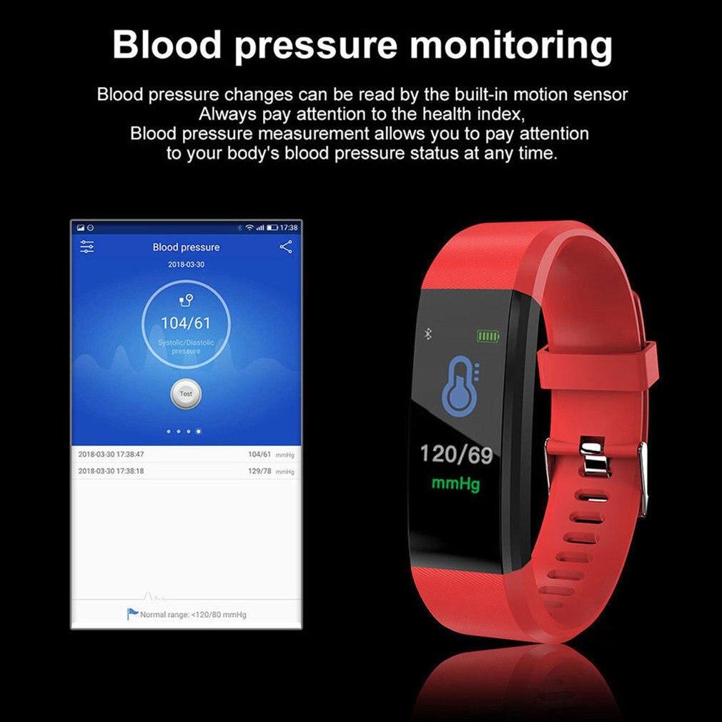 Smart Monitor Blood Pressure Fitness Tracker 4