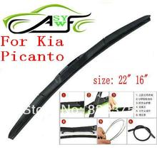 Free shipping car wiper blade for Kia Picanto 2004+ year Soft Rubber WindShield Wiper Blade 2pcs/PAIR deflector window