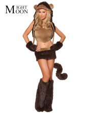 MOONIGHT Halloween Carnival Costumes for Women Sexy Teddy Bear Costume Cosplay Adult Girls Fancy Party Dress