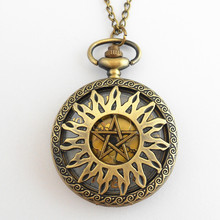 FANTASY UNIVERSE Freeshipping 1pc Supernatural Dean pocket watch necklace HYT22