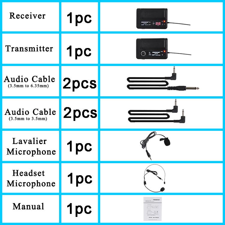 FB-U03-2 50 Wireless Microphones