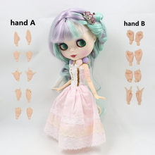 Free shipping Nude Factory Blyth Doll Series No.BL1049/4006 Purple mix Mint hair white skin JOINT body Neo(China)