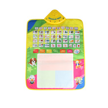 Coolplay Russian Words Baby Water Drawing Mat Educational Electronic Toys Touch Sound Music Carpets Musical Mat Gifts for Kids(China)