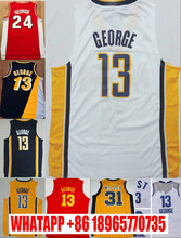 Wholesale #13 paul george Jersey Stitched #31 Retro Reggie Miller Jersey Throwback Basketball Jersey Shirt Fast Shipping