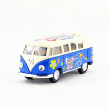 KINSMART Die Cast Metal Model/1:32 Scale/1962 Volkswagen Classical Bus toy/Pull Back Car/Children's gift/Educational Collection(China)