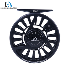 Maximumcatch Five Colors 3/4 WT Fly Fishing Reel Machined Aluminium Micro Adjusting Teflon Disc Drag Fly Reel Fishing Tackle