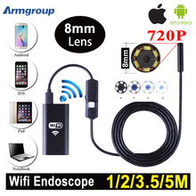 Armgroup 1m 2m 5m Wifi Endoscope Camera Android 720P Iphone Borescope Waterproof Camera Endoscopic Android iOS Boroscope Camera