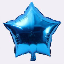 Hot Sale 10 inch Helium Balloon star Wedding Large aluminum Foil Balloons Inflatable gift Birthday baloon Party Decoration Ball