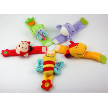 infant plush doll animal modeling wrist rattles toy super soft wrist strap cute super soft smooth gift enlightenment puzzle baby