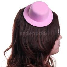 Free Shipping Ladies Mini Top Hat Fascinator Burlesque Millinery - Pink
