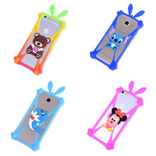 Cute Cartoon Silicone Universal Holster Phone Cases Fundas For Huawei Mate 9 LG Nexus 5X Samsung Galaxy A7 2017 A720