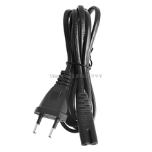 Short C7 To EU European 2-Pin Plug AC Power Cable Lead Cord 1.5M 5Ft Figure 8 #G205M# Best Quality