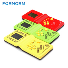 FORNORM Handheld Game Console Tetris Hand Electronic LCD Toys Fun Game Brick Puzzle Puzzle(China)