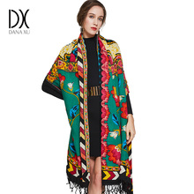 2017 Luxury Brand Large Pashmina Fashion Scarves and Shawls Warm Scarf Women Muslim Hijab Cashmere Poncho Cape Wool Shawl Wrap(China)