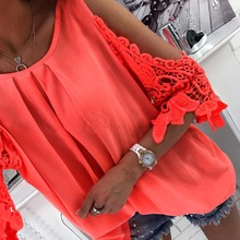 Buy LASPERAL Women Blouse Shirt 2018 New Summer Beachwear Sexy Cold Shoulder Full Sleeve Hollow Ladies Mujer Tops Tee Blusas for $8.20 in AliExpress store