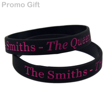Promo Gift 50PCS/Lot Music Band The Smiths Bracelet - The Queen Is Dead Silicone Wristband(China)