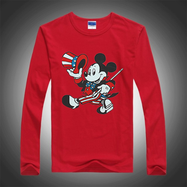 2016 New Spring Autumn Children Tees Fashion Mickey Cartoon Mouse Boys Long Sleeve T-shirt Kids Clothes Print Baby Girls Tshirts(China (Mainland))