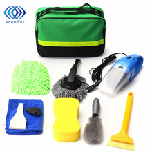 8 PCS Set Car Cleaning Kit Products Tools To Wash Clean Interior Exterior Vacuum Cleaner+Shovel+Sponge+Glove For Car(China)