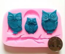 1pc cooking tools owl animal Silicone Fondant and Paste Mold DIY Cake Decorating Polymer Clay Resin Candy Fimo Super Sculpey