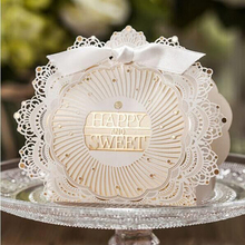 20 pcs Wedding paper candy box decoration mariage  happy sweet Gift Bag  Luxury Elegant Decoration Laser Cut  Paper craft